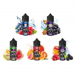 ! Six Licks PROBIERPAKET 5x100ml OVERDOSED E-Liquid made in UK